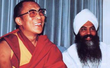 Yogi Bhajan and the Dalai Lama